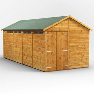 8 ft. W x 18 ft. D Solid Wood Garden Shed