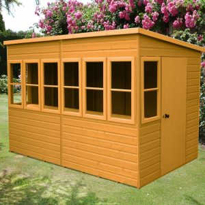 8 ft. W x 6 ft. D Solid Wood Garden Shed
