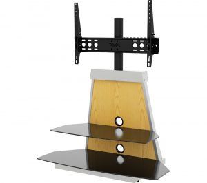 AVF Options Stack 900 mm TV Stand with Bracket with 4 Colour Settings, White