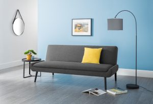Antoni Curled Base Sofa Bed in Grey