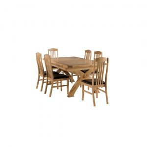 Apollonia Extendable Dining Set with 6 Chairs