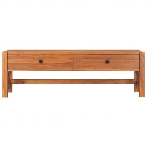 August Grove Desk With 2 Drawers 140X40x45 Cm Recycled Teak Wood
