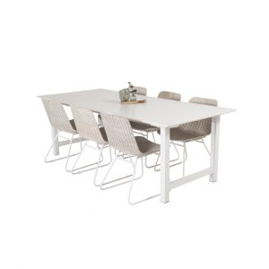 Caja Dining Set with 6 Chairs