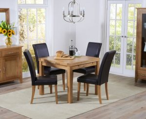 Castorena Extendable Dining Set with 4 Chairs