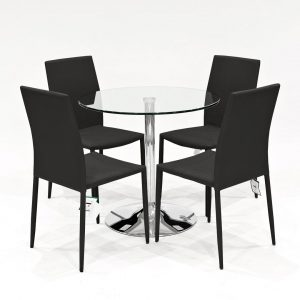 Cyrilmagnin Dining Set with 4 Chairs