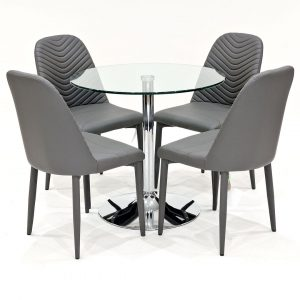 Danton Dining Set with 4 Chairs