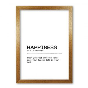 Definition Quote 'Happiness Laptop' Textual Art