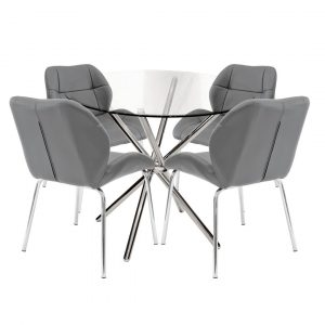 Dereham Dining Set with 4 Chairs