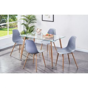 Draven Dining Set with 4 Chairs