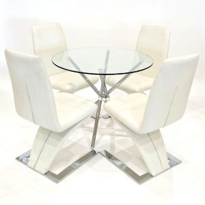 Harriss Dining Set with 4 Chairs