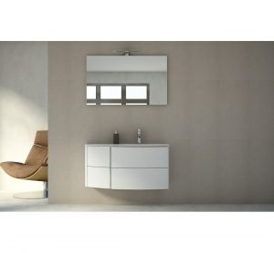 Janae 5-Piece Bathroom Furniture Set with LED Lamp and Mirror