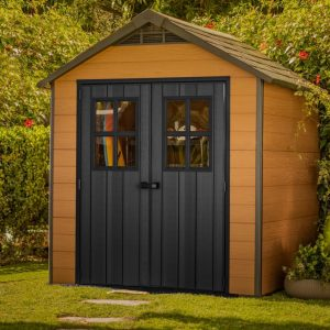 Keter 7.4 ft. W x 7.3 ft. D Plastic Garden Shed