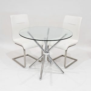 Lesa Dining Set with 2 Chairs