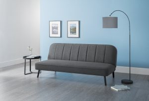 Mira Curved Back Sofa Bed in Grey