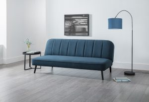 Mira Curved Back Sofa bed in Blue