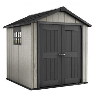 Pickens Reverse Apex 8 ft. W x 7 ft. D Plastic Garden Shed