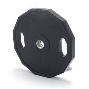 Pro Fitness 25kg Rubber Weights - x2