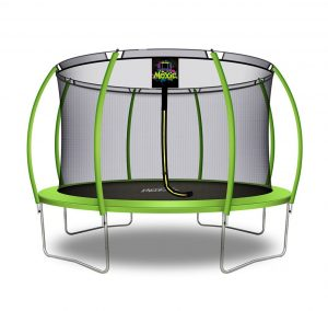 Pumpkin Shaped 12' Outdoor Backyard Above Ground Trampoline with Safety Enclosure