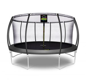 Pumpkin Shaped 15' Outdoor Backyard Above Ground Trampoline with Safety Enclosure
