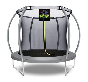 Pumpkin Shaped 8' Outdoor Backyard Above Ground Trampoline with Safety Enclosure