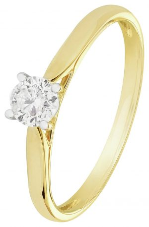 Revere 9ct Gold 0.33ct Diamond Solitaire Ring - N