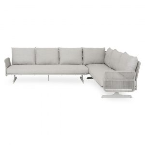 Scorpius 300cm Wide Outdoor Right Hand Facing Garden Corner Sofa with Cushions
