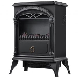 Shanell Electric Freestanding Fireplace Stove Heater With Fan Heater And Led Fire Flame Effect