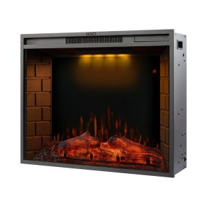 Shanell Electric Wall Mounted Fireplace Stove Heater 750/1500W With Timer Control And Led Fire Flame (28'')