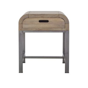 Sphere Side Table with Drawer
