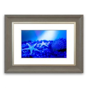 Stunning Blue Starfish Bathroom - Picture Frame Graphic Art Print on Paper