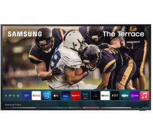 """75"""" SAMSUNG The Terrace QE75LST7TAUXXU Smart 4K Ultra HD HDR QLED Outdoor TV with Bixby & Google Assistant"""