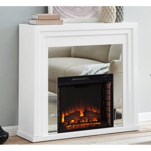 Boaz Mirrored Electric Fireplace