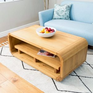 Modern Oak Living Coffee and TV Table