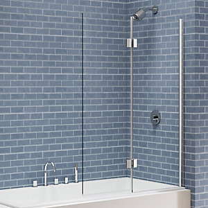 Nexa By Merlyn 8mm 2 Panel Square Hinged Right Hand Bath Screen - 1500 x 900mm