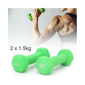 1.5kg Dumbbell Set Solid Aerobic Training Weights Strength Dumbbells