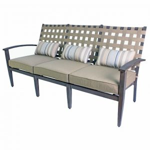 193Cm Wide Garden Sofa with Cushions