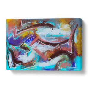 'Abstract Art Painting Vol.218' by S.Johnson - Wrapped Canvas Painting Print