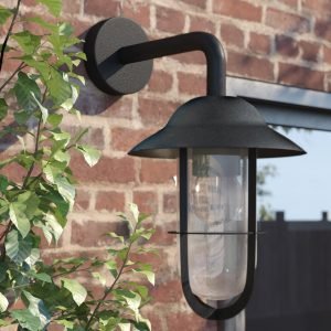 """Amanda 1 - Bulb 12.2"""" H Stained Glass Outdoor Fisherman Light"""