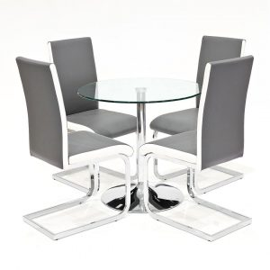 Carnot Dining Set with 4 Chairs