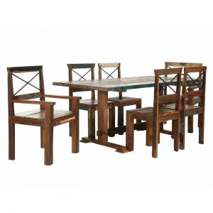 Cruzar Dining Set with 6 Chairs