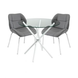 Dereham Dining Set with 2 Chairs