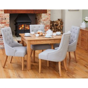 Eccles Extendable Dining Set with 4 Chairs