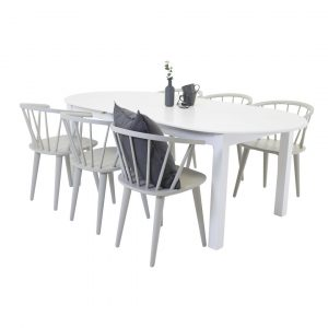 Farmington Extendable Dining Set with 6 Chairs