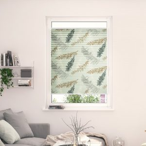 Fir Branches Semi-Sheer Pleated Blind