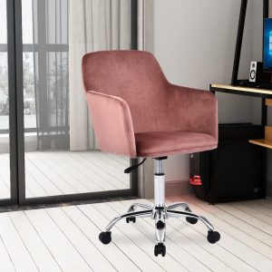 Green Velvet Home Office Chair Ergonomic Desk Chair Executive Chair Adjustable Computer Chair With Arms And Back Support Swivel Chair Reception Chair