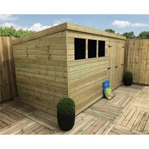 Jahanzaib 12 ft. W x 8 ft. D Solid Wood Garden Shed