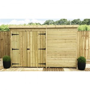 Kailua 9 ft. W x 7 ft. D Solid Wood Garden Shed