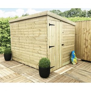 Kalyvakia 8 ft. W x 8 ft. D Solid Wood Garden Shed