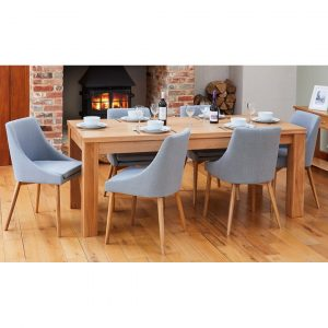 Kante Extendable Dining Set with 6 Chairs