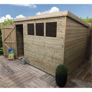 Kat 10 ft. W x 5 ft. D Solid Wood Garden Shed